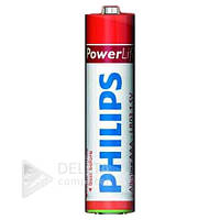 Батарейка alkaline Philips PowerLife LR03, пальчиковая, 1.5В, (Цена за 24 шт.) батарейка для игрушек alkaline Philips PowerLife LR03