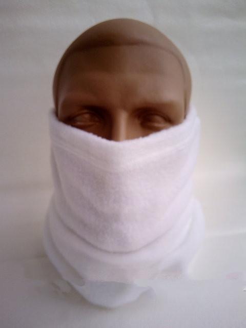 Бафф белый микрофлис эластичный зима