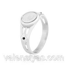 Серебряное кольцо мужское с ониксом К2ФО/214