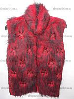 """Жилетка женская теплая на искусственном меху (44-48) """"Pink"""" купить оптом со склада на 7км LM-973"""