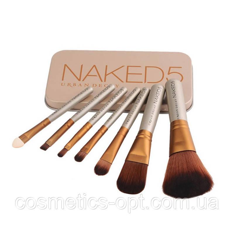 Кисти косметические Naked 5 (7 предметов) (реплика)