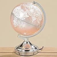 Лампа Глобус серый пластик h32d20см 3149500