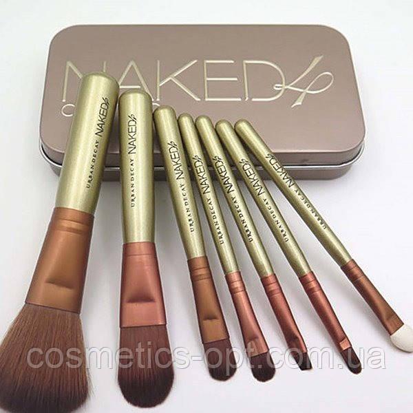 Кисти косметические Naked 4 (7 предметов) (реплика)