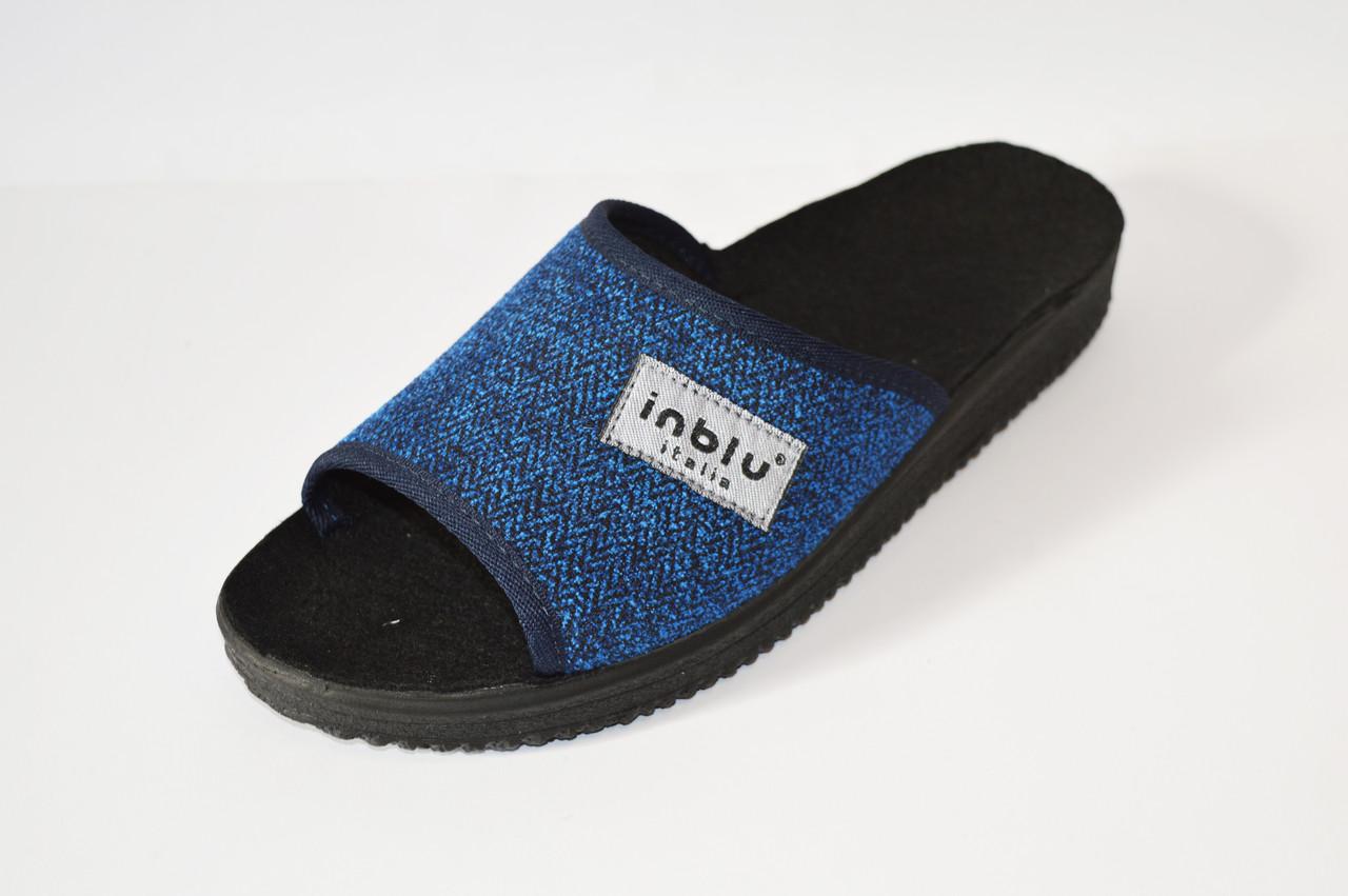 Синие мужские тапочки Inblu 28-1V
