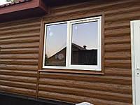 Металосайдинг блок-хаус RAL золотой дуб 0.35 мм