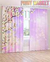 Фото шторы цветущая абрикоса