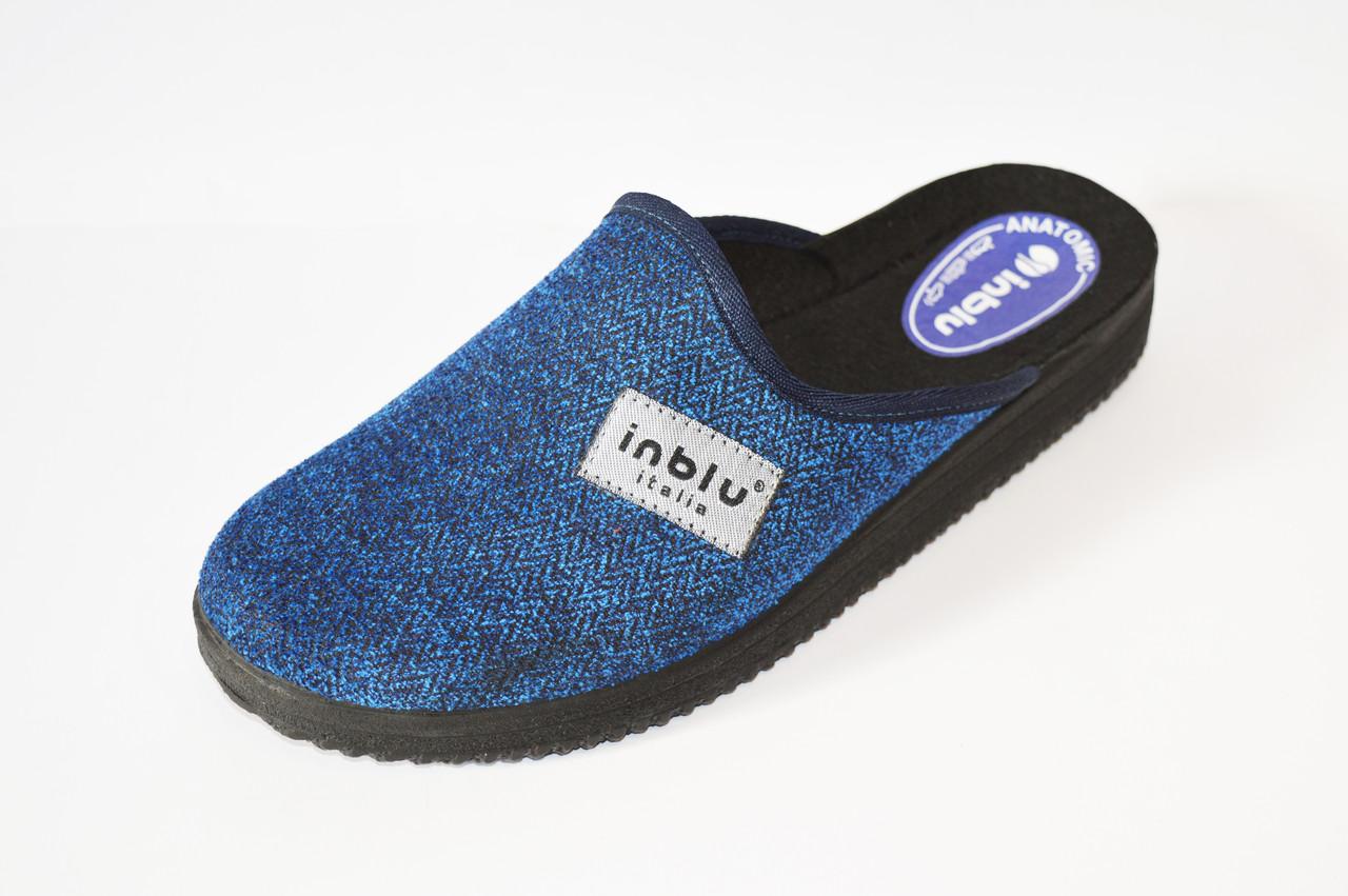 Синие мужские тапочки Inblu 28-3V