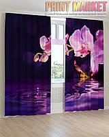 Фото шторы орхидея и вода