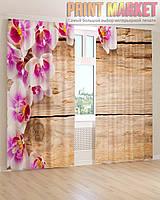 Фото шторы орхидея на досках