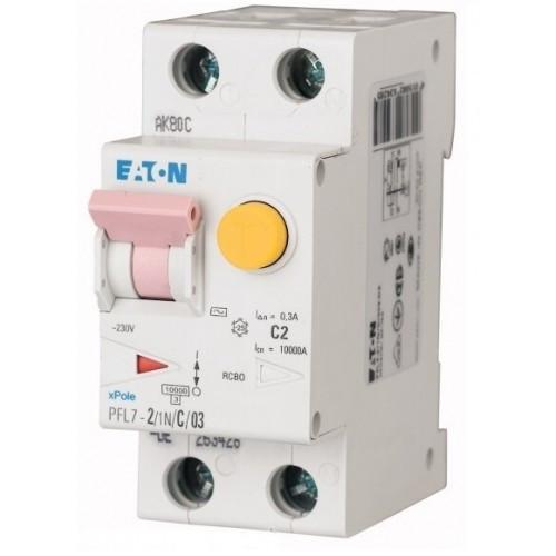 Дифференциальный автоматический выключатель PFL7-2/1N/C/03 (165632) Eaton