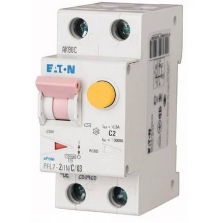 Дифференциальный автоматический выключатель PFL7-2/1N/C/03 (165632) Eaton, фото 2