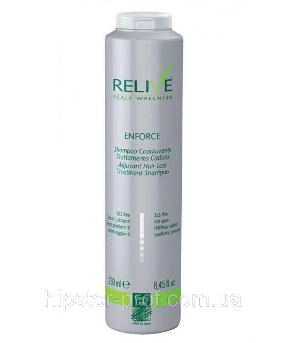 Шампунь активный против выпадения волос Green Light Relive Enforce Adjuvant Hair Loss Treatment Shampoo 250 ml