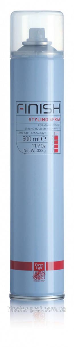 Лак-спрей сильной фиксации Green Light Finish Styling Spray 500 ml