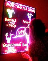 LED доска, яркая,светодиодная, flash, лед доска, панель 30*40 см., премиум, надёжная, с гарантией
