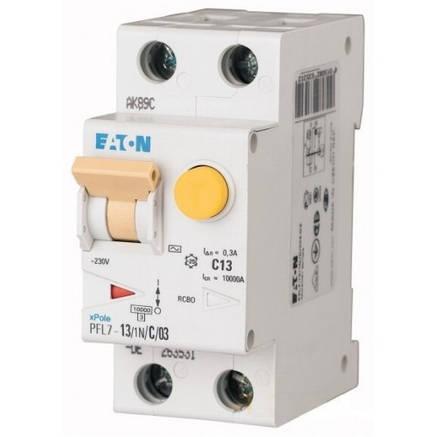 Диференційний автоматичний вимикач PFL7-13/1N/C/03 (165612) Eaton, фото 2