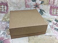 Коробка крафт/белый б\о  для 9-ти кексов 250*250*90, фото 1