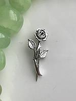 Булавка серебряная Роза 7026