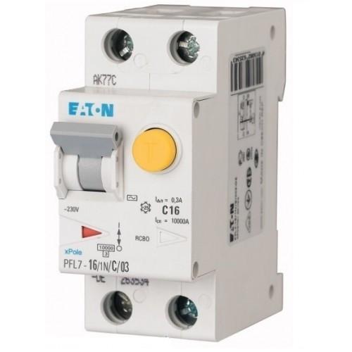 Диференційний автоматичний вимикач PFL7-16/1N/C/03 (165626) Eaton