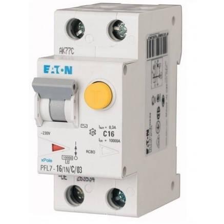 Диференційний автоматичний вимикач PFL7-16/1N/C/03 (165626) Eaton, фото 2