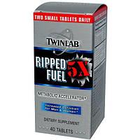 Twinlab, Ripped Fuel 5X, для подчеркивания рельефности, 40 таблеток