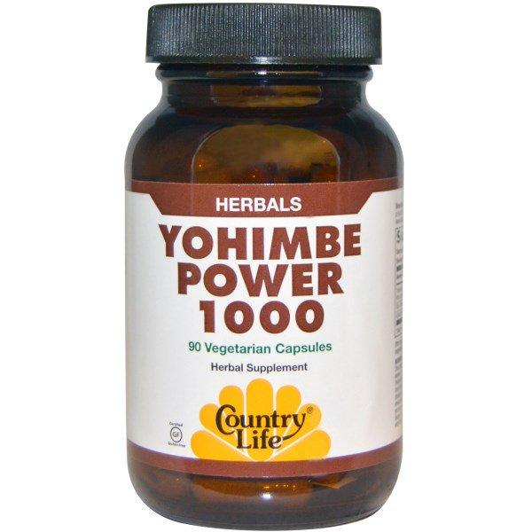 Country Life, Yohimbe Power 1000, 90 вегетарианских капсул