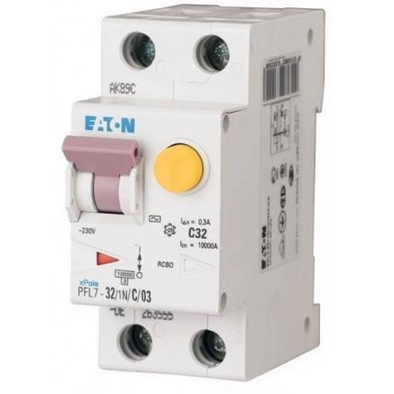 Диференційний автоматичний вимикач PFL7-32/1N/C/03 (165673) Eaton, фото 2