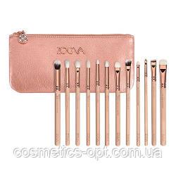 Кисти Zoeva Luxury Set Розовое Золото (12 предметов) – маленький (реплика)