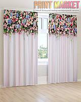 Фото шторы разные цветы