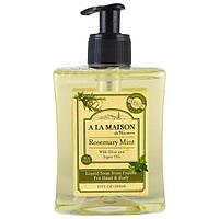 A La Maison de Provence, Жидкое мыло для рук и тела, розмарин, мята, 10 мл (300 мл)