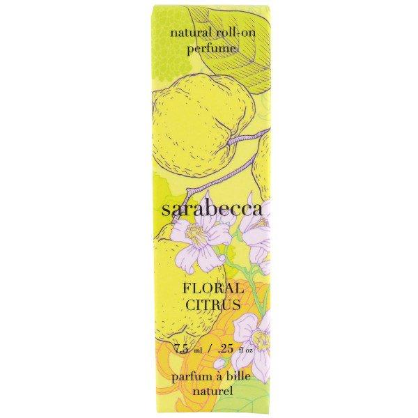 Sarabecca, Natural Roll-on Perfume, Floral Citrus, .25 oz (7.5 ml)