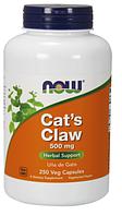 Кошачий Коготь, Now Foods, Cats Claw 500 mg, 250 Caps