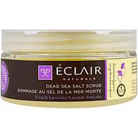 Eclair Naturals, Скраб из соли мертвого моря, лаванда широколистная, 9 унций (255 г)