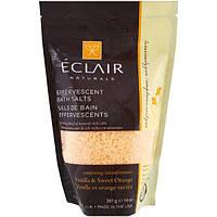 Eclair Naturals, Шипучие соли для ванной, ваниль и сладкий апельсин, 14 унций (397 г)