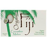 Organic Fiji, Лосьон для тела и лица с органическим кокосовым маслом, огурец и дыня, 7 унций (198 мл)