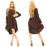Ангоровое асимметричное платье