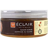 Eclair Naturals, Сахарный скраб, сливочный кокос, 9 унций (255 г)