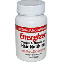 Hobe Labs, Energizer, Vitamins & Minerals for Hair Nutrition, 60 Tablets