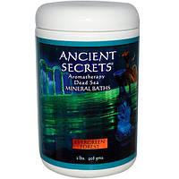 Ancient Secrets, Lotus Brand Inc., Ароматерапия, средство для ванны с минералами мертвого моря, Вечнозеленый лес, 2 фунта (908 г)