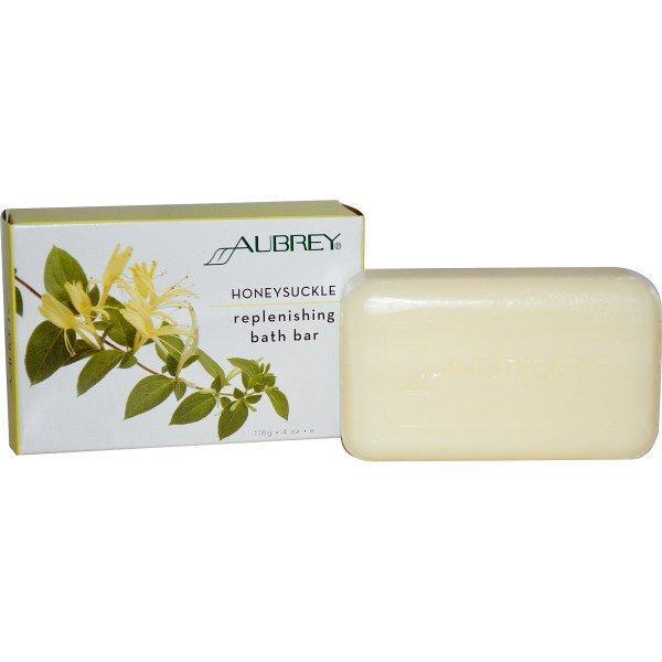 Aubrey Organics, Восстанавливающее мыло для ванной, с жимолостью, 4 унции (118 г)