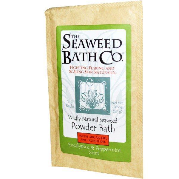 Seaweed Bath Co., Порошок для ванны с маслом арганы и кукуи, аромат эвкалипта и мяты, 57 г