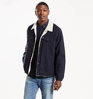 Зимняя микровельветовая куртка Levis Trucker Sherpa - Nightwash Blue Micro Corduroy (XXL)