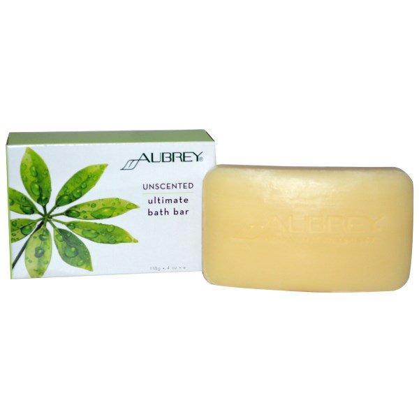 Aubrey Organics, Ultimate Bath Bar, Unscented, 4 oz (118 g)