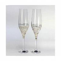 Набор свадебных бокалов для шампанского (230 мл/2шт.) BOHEMIA Grandioso b40783-M8441