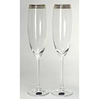 Набор свадебных бокалов для шампанского (230 мл/2шт.) BOHEMIA Grandioso b40783-M8457, фото 2