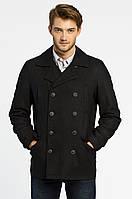 Двубортное пальто мужское черного цвета Jafar от !Solid (Дания) в размере XXS