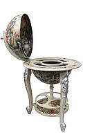 Глобус-бар белый напольный на трех ножках 45045W-M