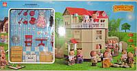 Трехэтажный домик Happy Family (аналог Sylvanian Families) 012-10