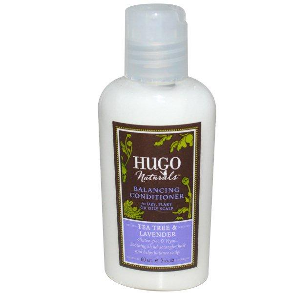 Hugo Naturals, Balancing Conditioner, Tea Tree & Lavender, 2 fl oz (60 ml)