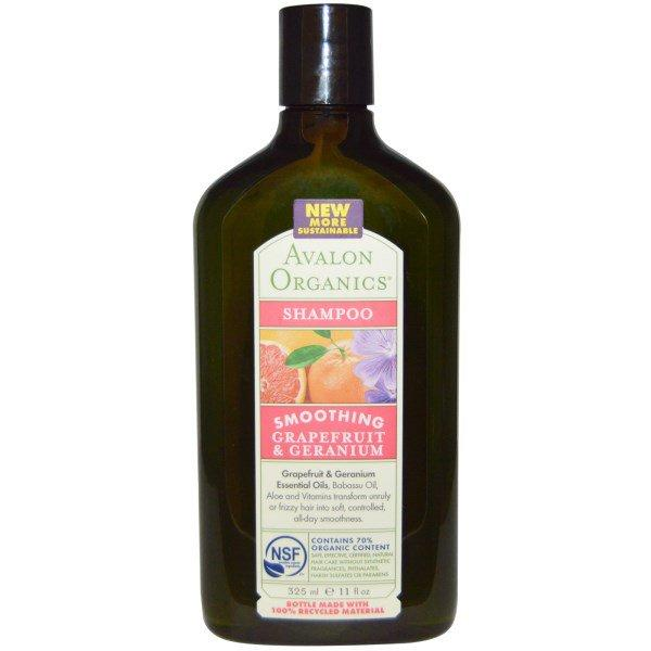 Avalon Organics, Освежающий шампунь, Грейпфрут и герань, 11 жидких унций (325 мл)