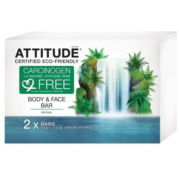 ATTITUDE, Body & Face Bar, Revival, 2 Bars, 4.23 oz (120 g) Each